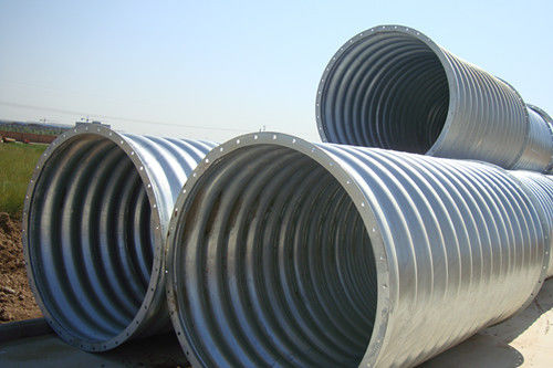 Steel Pipe / Corrugated Steel Pipe Culvert is a flexible structure adapt to different terrain subsidence