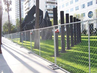 Ease of installation Chain Link Fencing Metal Chain link Fencing Do not obscure sunlight